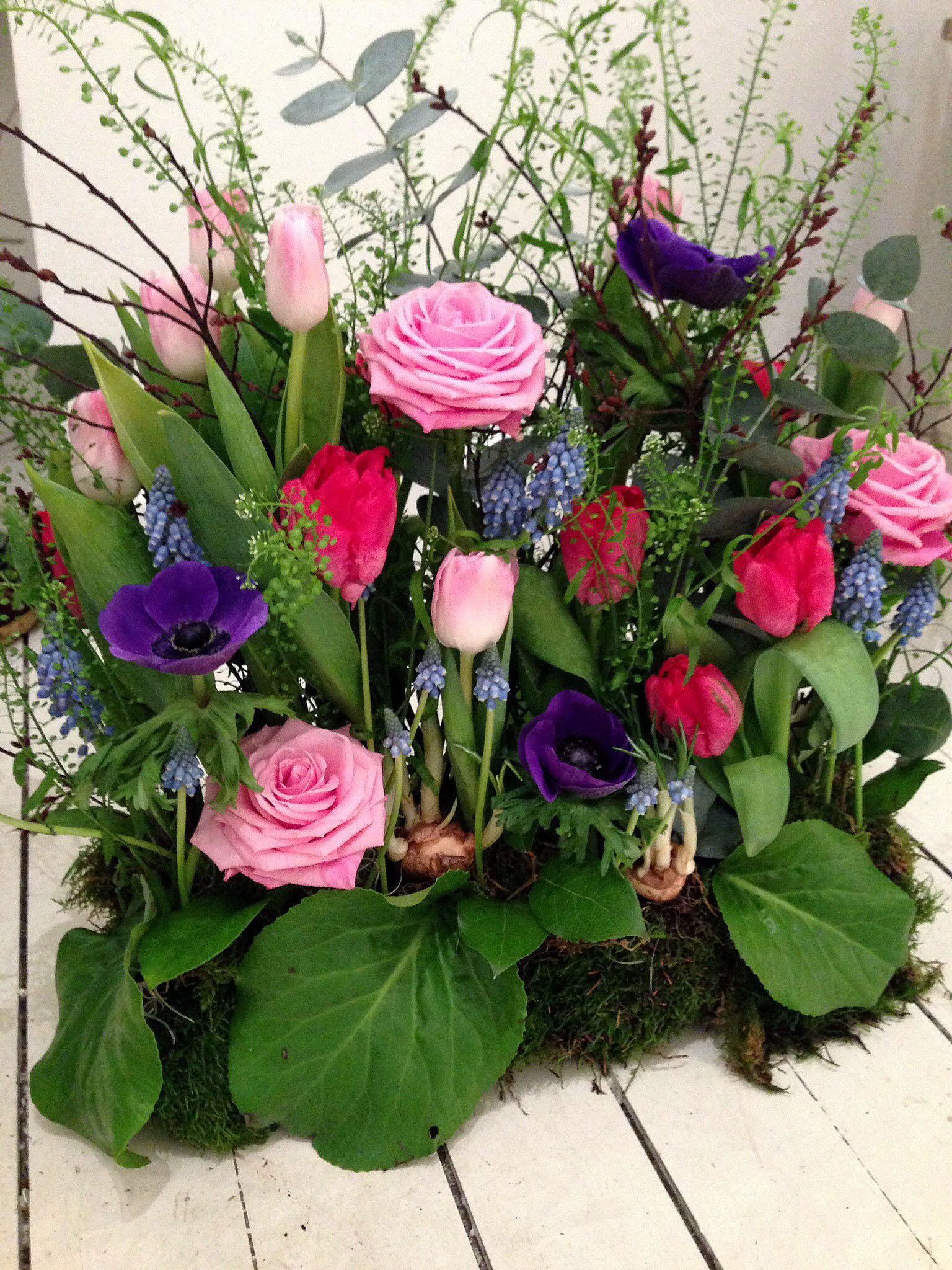 blomsterarrangemang till begravning